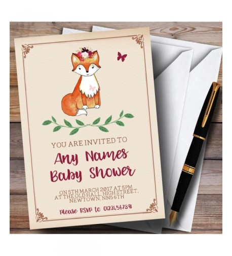 Cute Woodland Invitations Baby Shower
