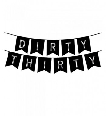Dirty Thirty Banner Decorations CHECKLIST