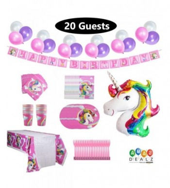 Unicorn Birthday Supplies Favor Design