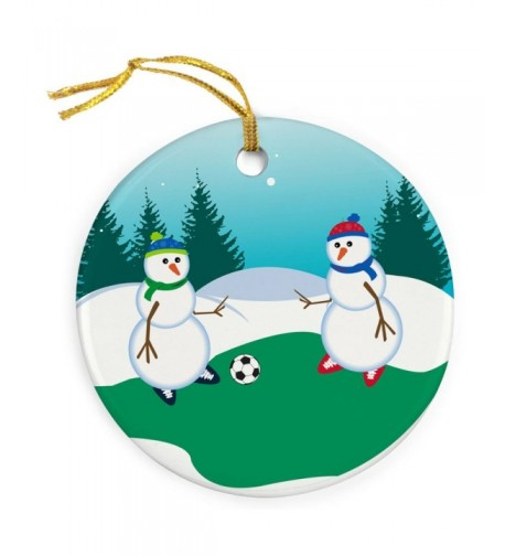 ChalkTalkSPORTS Porcelain Ornament Kickoff Christmas