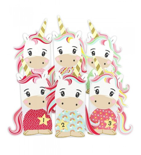 Papierdrachen DIY Advent Calendar Unicorn