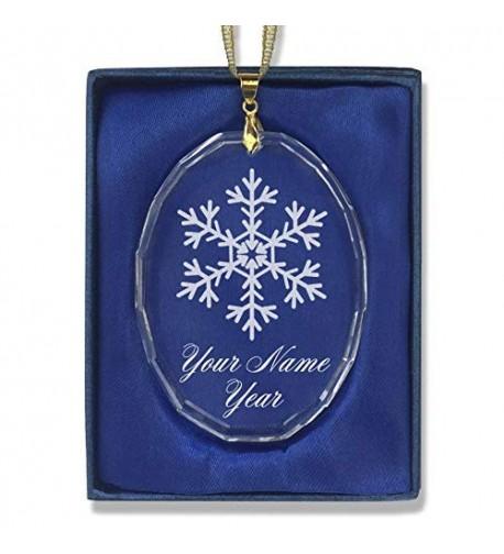 SkunkWerkz Christmas Snowflake Personalized Engraving