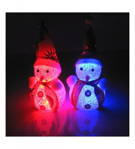 Christmas Glowing Snowman Ornaments Iusun