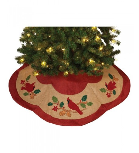 Gerson Poly linen Burlap Tree Skirt