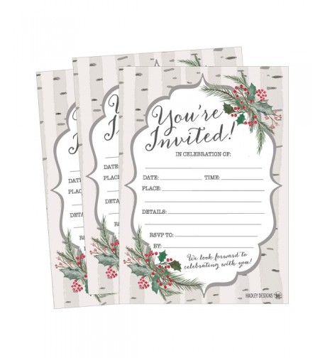 Christmas Invitations Invitation Anniversary Housewarming