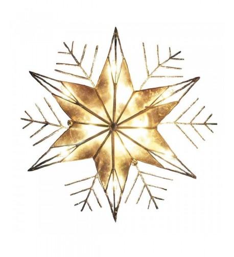 Kurt Adler 10 Light Snowflake Christmas