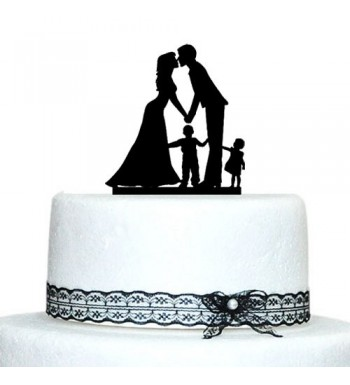 Buythrow Wedding Topper Silhouette Decoration