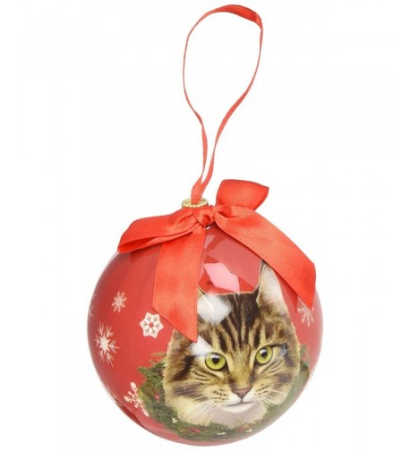 Maine Coone Cat Christmas Ornament