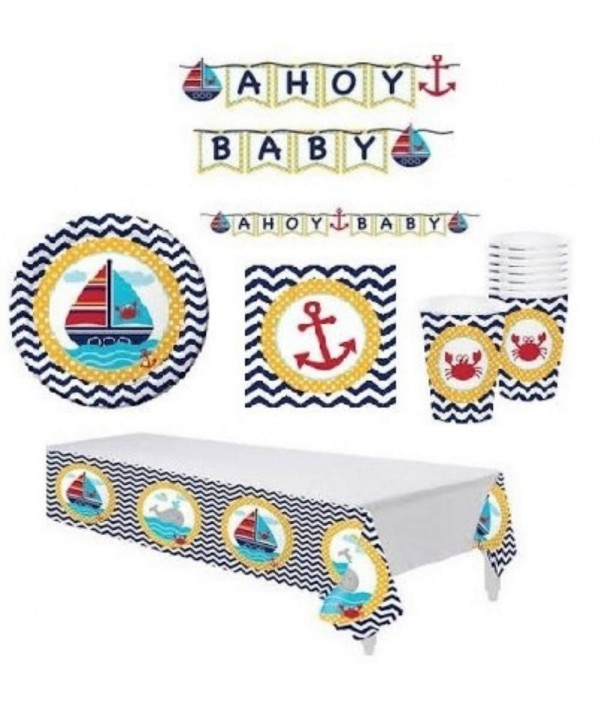 Nautical Shower Supplies Decorations Including