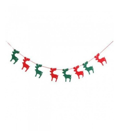 UNKE Christmas Garland Bunting Decorations