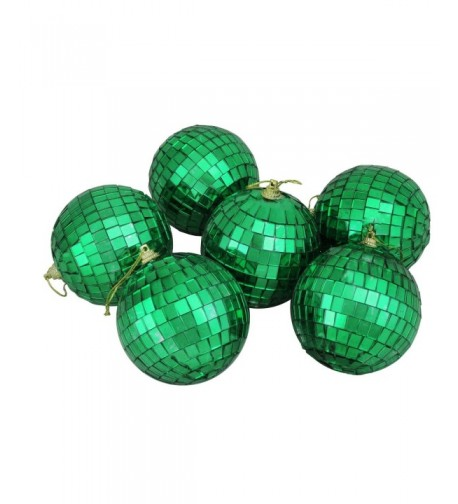 Northlight Green Mirrored Christmas Ornaments