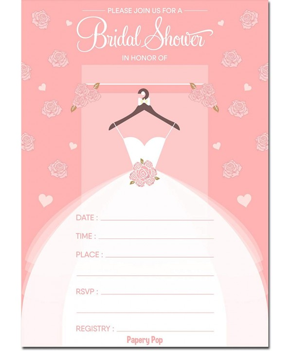 Papery Pop Bridal Invitations Envelopes