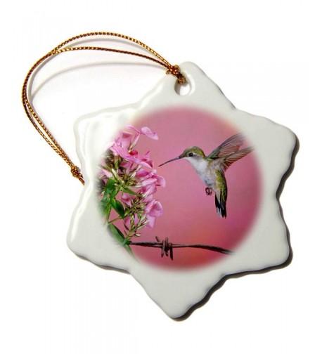 3dRose Throated Hummingbird Snowflake Ornament