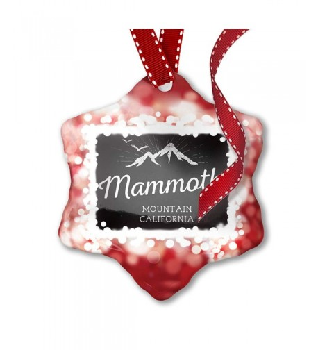 NEONBLOND Christmas Ornament Mountains Chalkboard