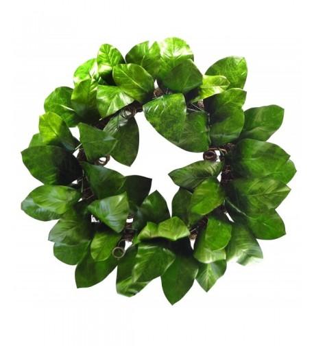 HYX 0848 24 Magnolia Leaf Wreath