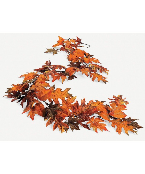 OTC 5 Ft Glittery Maple Garland