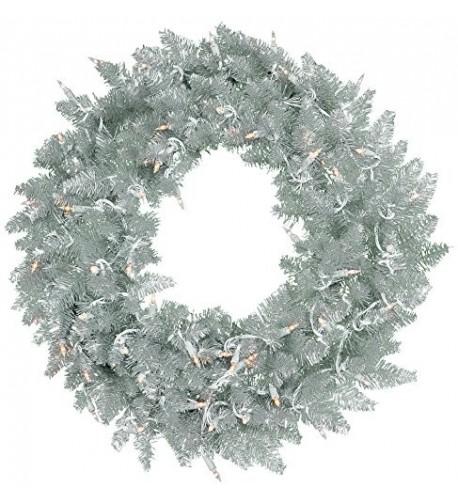 Vickerman Silver Tinsel Fir Wreath