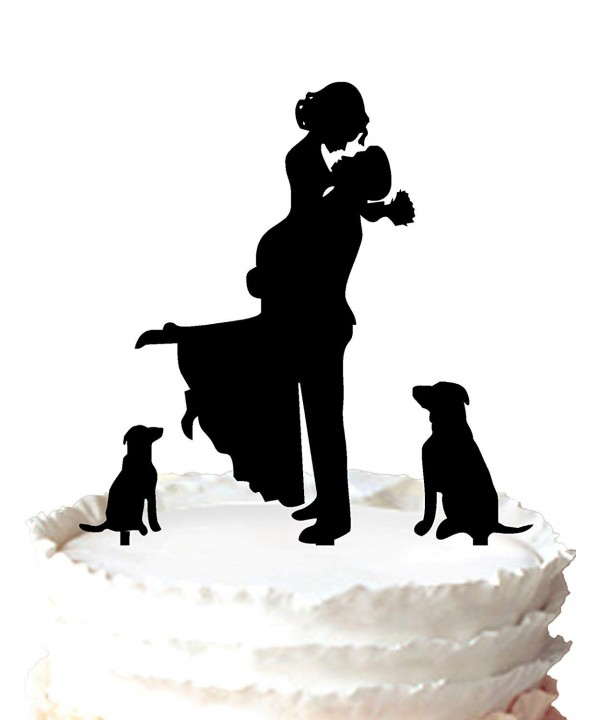Buythrow Unique Wedding Topper Silhouette
