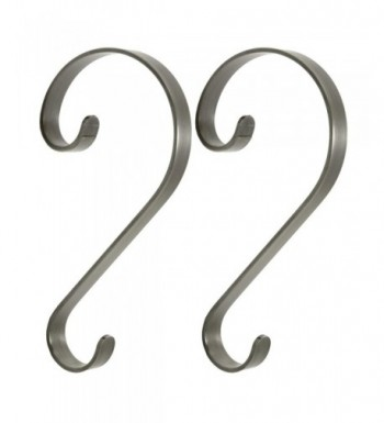 2 Piece Pewter Scroll Stocking Hanger