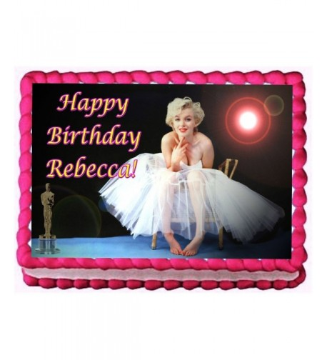 Marilyn Monroe Birthday Topper Personalized