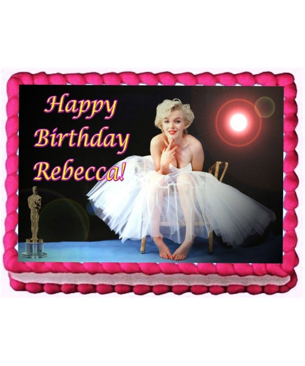 Marilyn Monroe Birthday Topper Personalized