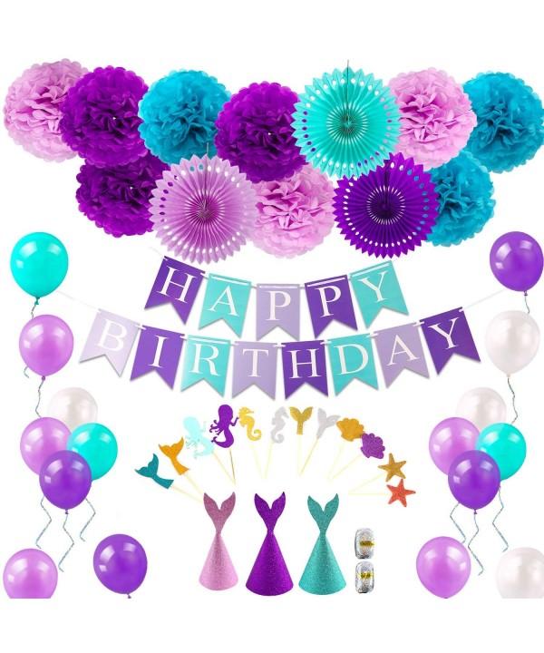 Mermaid Supplies Decorations Birthday Balloons