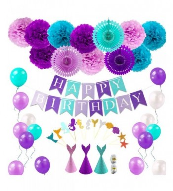 Mermaid Supplies Decorations Birthday Balloons