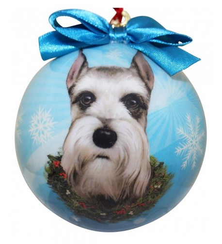 Schnauzer Christmas Ornament Shatter Personalize
