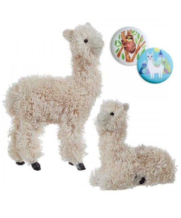 Furry Llama Sitting Standing Ornaments