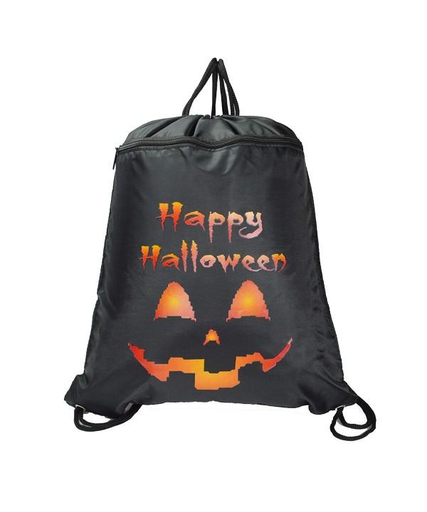 DALIX HALLOWEEN Pumpkin Drawstring Backpack