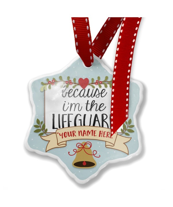 NEONBLOND Because Lifeguard Christmas Ornament