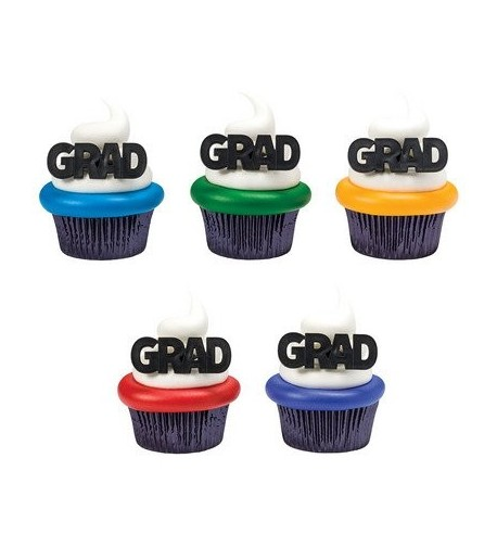 Block Letter Graduation Cupcake Toppers