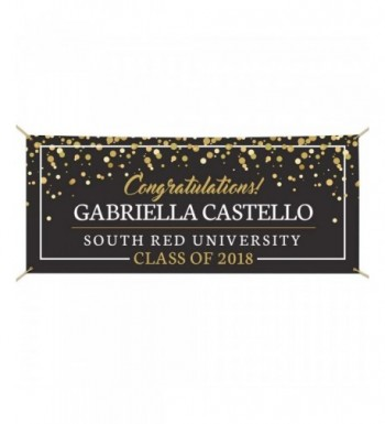 GiftsForYouNow Congratulations Personalized Graduation Banner