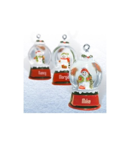 Ganz Snowglobes Courtney Personalized Christmas