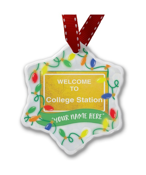 NEONBLOND Personalized Christmas Ornament Welcome