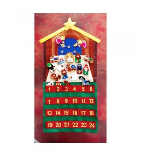 Nativity Crimson 24 Piece Childrens Calendar