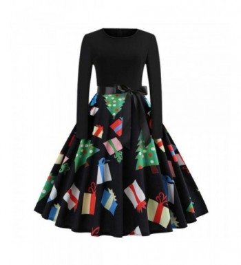 Womens Christmas Vintage Dresses Evening