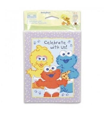Sesame Street Invitations Thank Cards