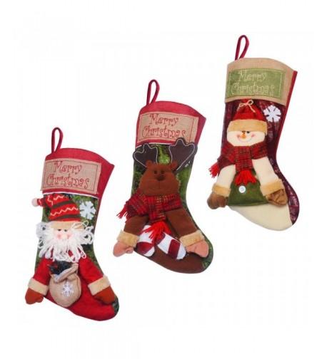 TIOVERY Christmas Stockings Reindeer Decorations
