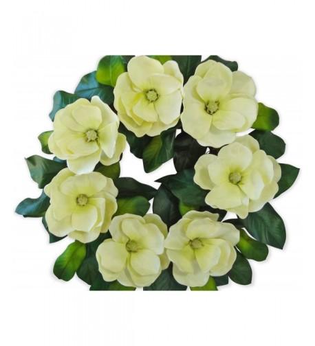 V Max Floral Decor Magnolia Wreath