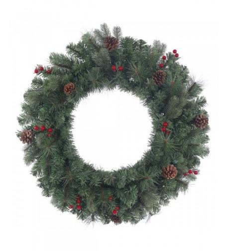 Vickerman Wesley Wreath Berries 122Tips