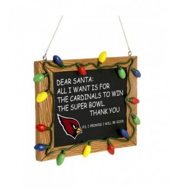 Forever Collectibles Cardinals Chalkboard Christmas