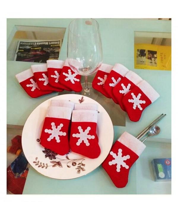 12pcs Christmas Stocking Dinnerware decorations