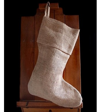 AK Trading Burlap Holidays Christmas Stockings