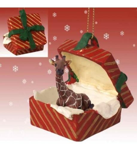 GIRAFFE Christmas Ornament Resin RGBA20