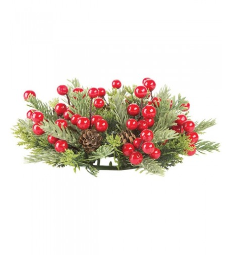 Darice ChristmasPine Berry Candle Ring