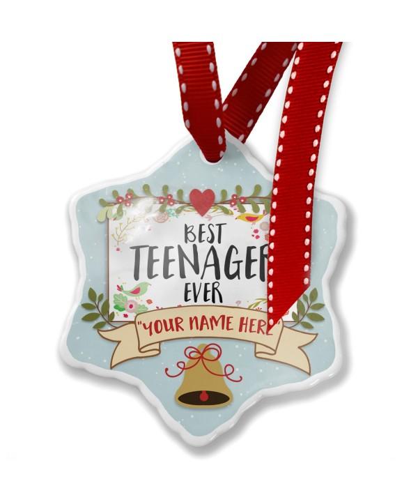 NEONBLOND Custom Teenager Christmas Ornament