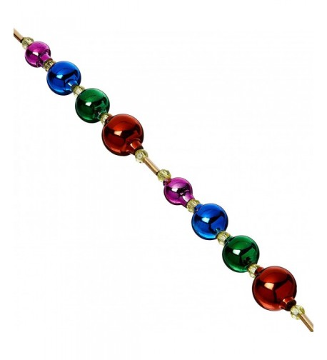 Kurt Adler Glass Multicolor Garland