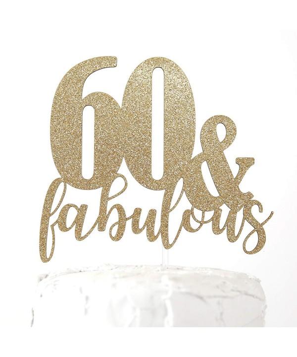NANASUKO 60th Birthday Cake Topper
