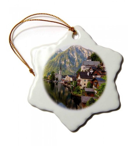 3dRose Hallstatt Salzkammergut Snowflake Ornament